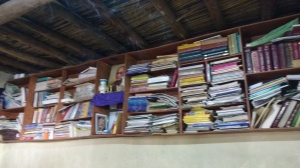 Books shelf at Girls Hostel