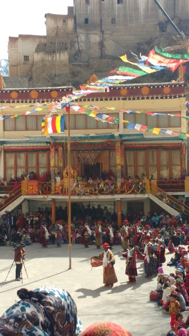 local dance performance at Key Gompa on the occasion of Budhha Purnima