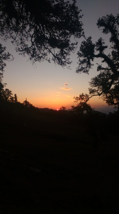 Sunset from the camp