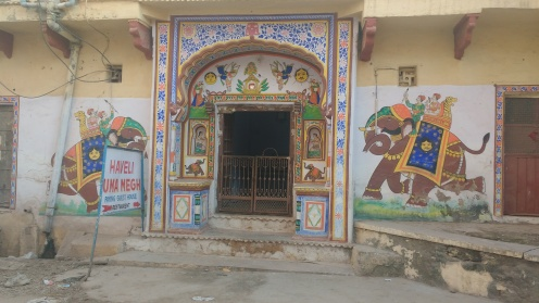 Painted entrance of homes